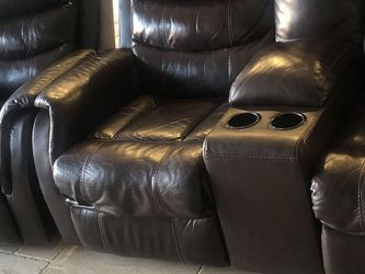 2 Sofas -leather-power theatre seating for Sale in Anaheim,  CA