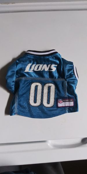 Lions dog jersey's size x-small and large. for Sale in Owosso, MI