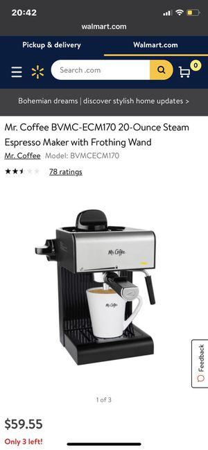 Mr Coffee Espresso Machine for Sale in Wichita Falls, TX