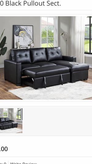Black Pullout Sectional On Sale!!s7010 for Sale in Mesquite, TX