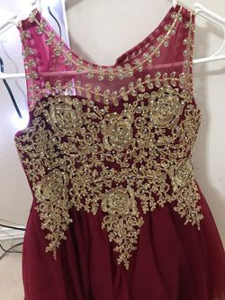 Tip top Kids Red Dress With Gold Sparklings ,. for Sale in Vancouver,  WA