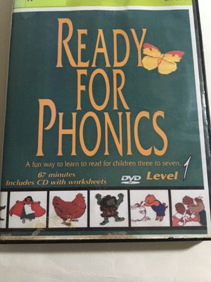 READY FOR PHONICS DVD LEVEL 1 WITH WORKSHEETS for Sale in New Castle, DE