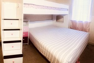 Twin over full bunk bed with storage set for Sale in Westville, NJ