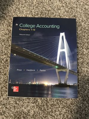 College accounting textbook for Sale in Graham, WA