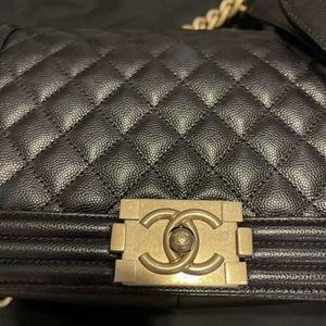 Chanel Medium Boy Bag - Black / Gold for Sale in Westlake, OH