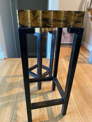Beautiful Wooden Brown & Gold Side Tables (Set of Two) for Sale in Vienna, VA