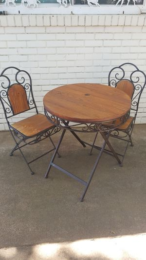 Dining table/ folding cafe table&2 chairs for Sale in Burleson, TX
