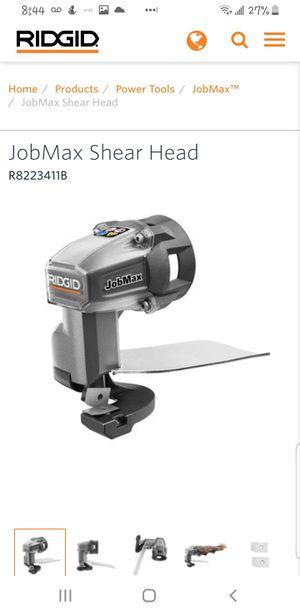 RIGID Jobmax heads: Shears, Jig Saw, Rotary tool. Ryobi for Sale in San Antonio, TX