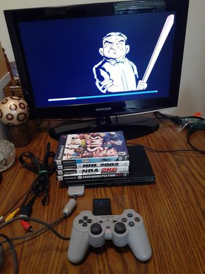 Playstation 2 slim full system with games for Sale in Indianapolis, IN