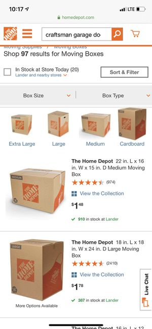 Cardboard boxes for packing/ moving for Sale in Portland, OR