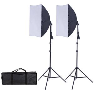 2 x 85W Continuous Bulb Light Softbox Photography Lighting Kit for Sale in Lake Elsinore, CA
