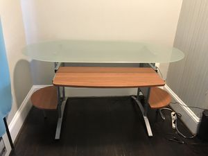 Glass Top Office Desk for Sale in Portland, OR