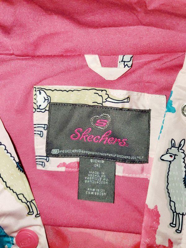 GIRLS SIZE 4 SKECHERS RAIN JACKET!
