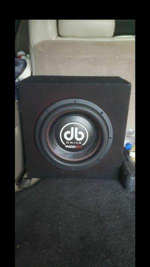 !!!DB DRIVE WDX 2000 12 INCH SUB AND BOX 2000 WATTS MAX!! for Sale in Dallas, TX