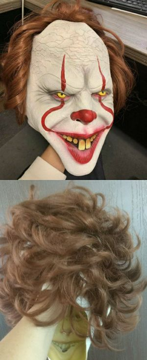 New in box halloween mask wig movie character IT horror film clown costume dress up party for Sale in Pico Rivera, CA