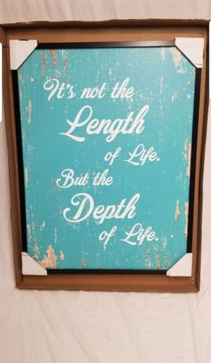 """SpotColorArt It's Not The Length Of Life Hand Crafter Canves Print 28"""" x 37"""", New, PRICE IS NOT NEGOTIABLE. for Sale in Palatine, IL"""