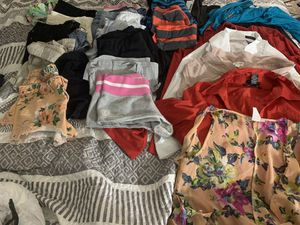 Lot of clothes shorts size 11, tops Large, bottoms Large for Sale in Las Vegas, NV