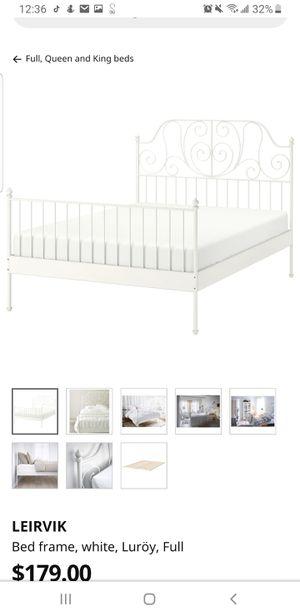 Full metal bed frame, Ikea Leirvik for Sale in San Francisco, CA
