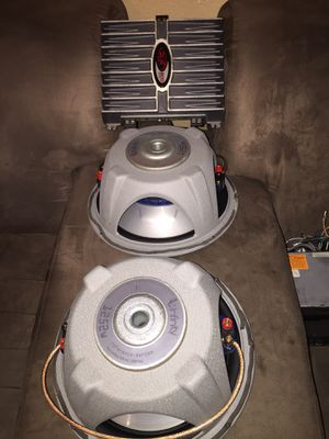 2 Subwoofers 12s with amplifier for Sale in Round Rock, TX