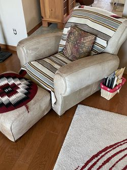 Leather Chair And Footrest for Sale in Phoenix,  AZ