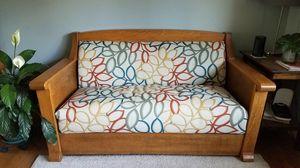 Antique Oak Mission Style Kroehler Daven-o Sofa Bed for Sale in Arvada, CO