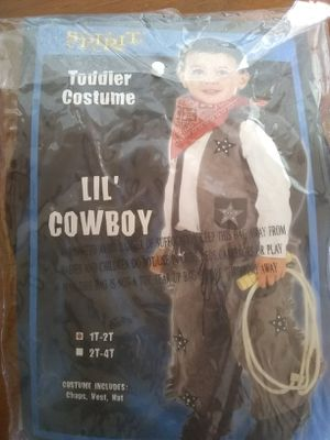 Halloween Toddler costume lil Cowboy size 1t-2t for Sale in Hemet, CA