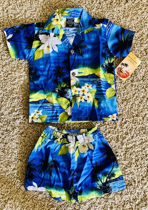 Hawaiian Kids Outfit Shirt and Shorts Boys size 1-2 Toddler Clothes for Sale in San Diego, CA