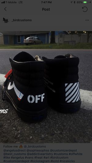 Customized Off White Vans size 13 for Sale in Santa Monica, CA