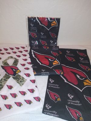 Arizona Cardinals Official Authentic Team Spirit Apparel (set of 4) for Sale in Surprise, AZ