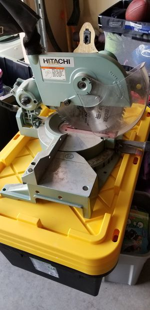 Hitachi 10in compound mitter saw for Sale in Las Vegas, NV