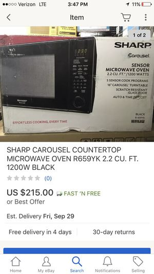 Sharp carousel microwave for Sale in Chantilly, VA