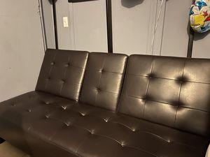 leather futon for Sale in San Bernardino, CA
