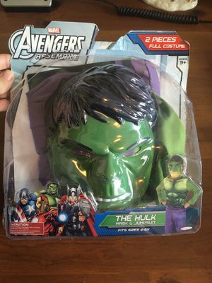 Marvel The Hulk 2 Piece Costume Set for Sale in Tustin, CA