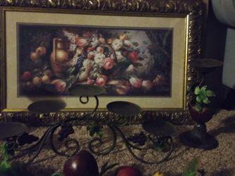 Home Interior Cuadro Candelabros Y Guia De Frutas for Sale in Ceres,  CA