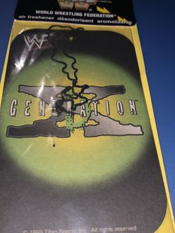 Vintage WWF DX Air Freshener for Sale in Blacklick,  OH