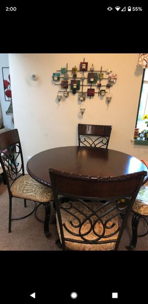 Round Dining Table with 4 Chairs for Sale in Herndon, VA