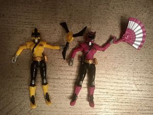 Mighty Morphin Power Rangers - pink & yellow for Sale in Bellerose, NY