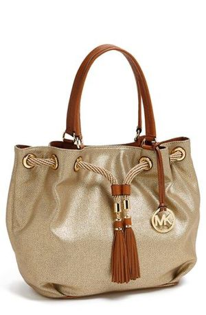 Michael Kors shimmery gold tote, bag for Sale in Queens, NY