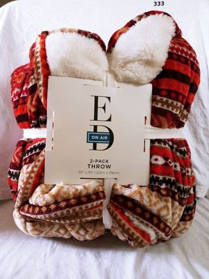 Ed On Air 2 Pack Throw Blanket for Sale in Henderson, NV