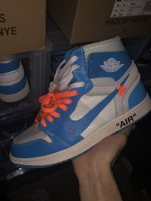 Off White UNC jordan 1 for Sale in Selma, TX