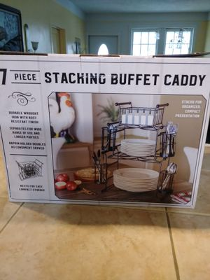 7Piece/Stacking Buffet Caddy for Sale in Detroit, MI