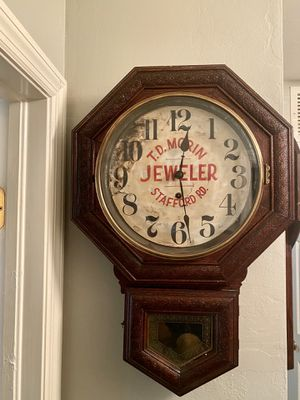 Antique oak advertising wall clock for Sale in Cape Coral, FL