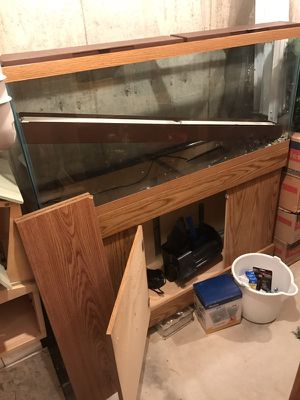 50 gal aquarium with stand and filter pump for Sale in Golden, CO