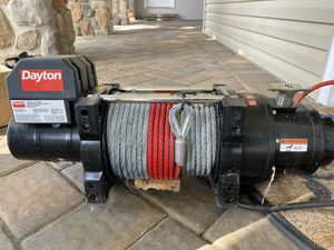 Dayton 12500 LB winch for Jeep or truck for Sale in Kenilworth, NJ