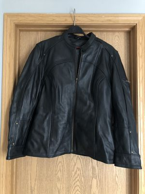 Leather king women's xl motorcycle jacket. for Sale in Canal Winchester, OH