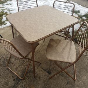 Retro Vintage Folding Table Set for Sale in Westchester, IL