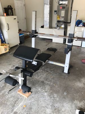 Olympic gym bench everything's included for Sale in Brandon, FL