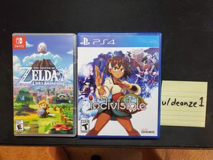 The Legend of Zelda: Link's Awakening (Nintendo Switch), & Indivisible (PS4) for Sale in MIDDLEBRG HTS, OH