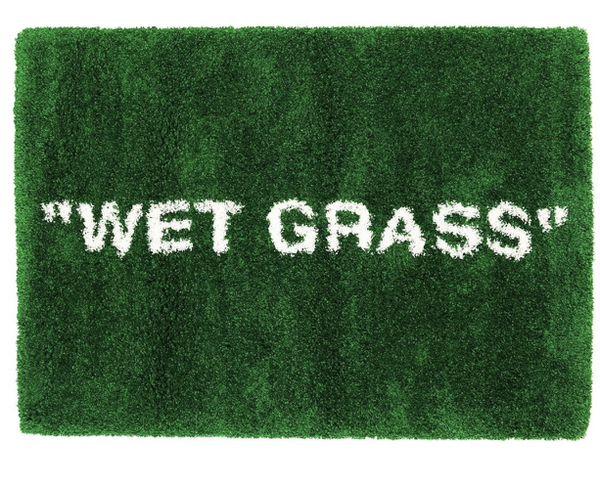 Off-white wet grass rug IKEA