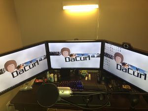 3 AOC 1080p 60 hz gaming monitors(OC to 75hz) WITH TRIPLE MONITOR STAND INCLUDED! for Sale in Jonesboro, AR